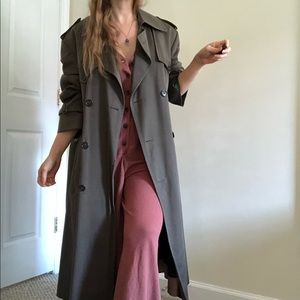 Vintage Christian Dior Monsieur Double Breasted Boyfriend Military Trench Coat
